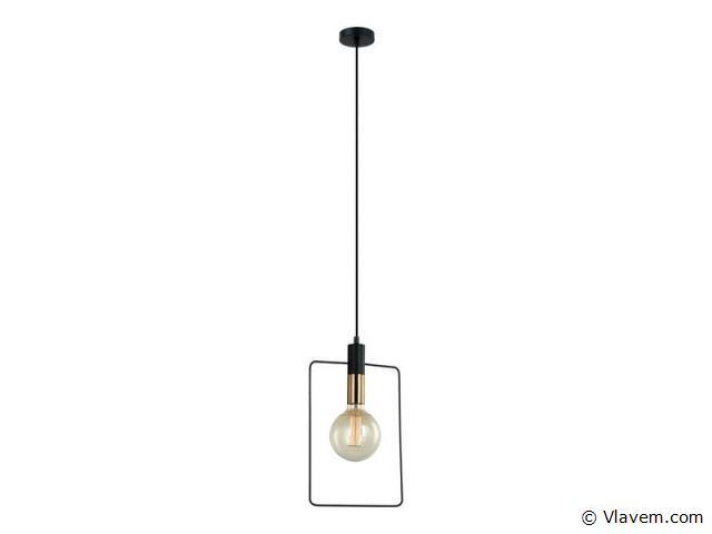 10 x Design hanglampen - QUADRAN - Zwart & Brons